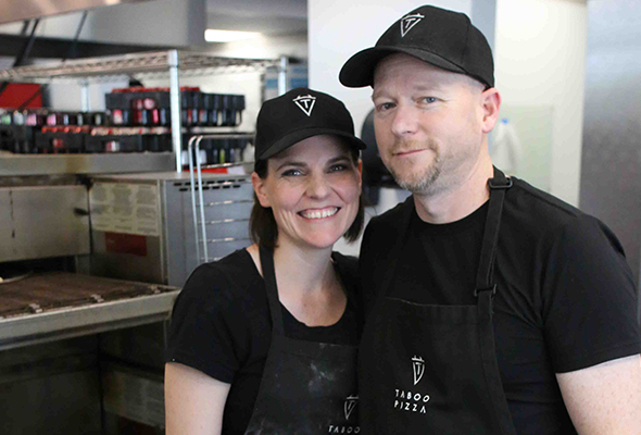 Taboo Pizza Owners Jennifer and Jeremy Holmes